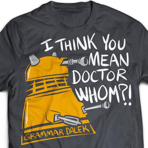 Grammar Dalek T-Shirt