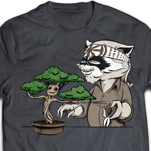 Karate Kid Groot T-Shirt