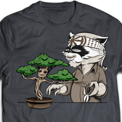 Karate Kid Groot Ladies T-Shirt