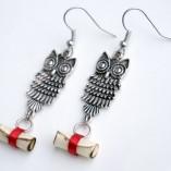 owl post earrings 1