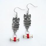 owl post earrings 2