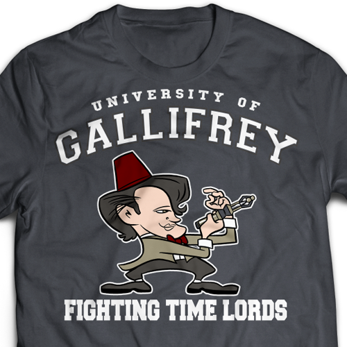 Fighting Time Lords Ladies T-Shirt
