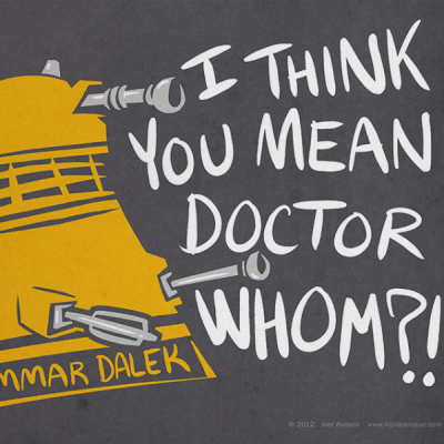 Grammar Dalek Print