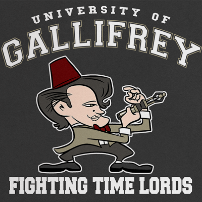 Fighting Time Lords Print