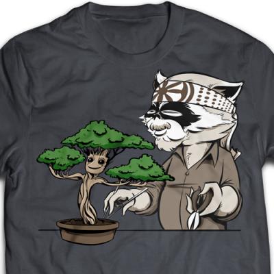 Karate Kid Groot Ladies T-Shirt