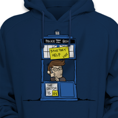The Doctor Is In Hoodie